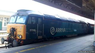 Arriva Train Wales 'Gerallt Gymro' service in Cardiff