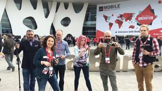 BBC Cick team outside Mobile Word Congress 2015