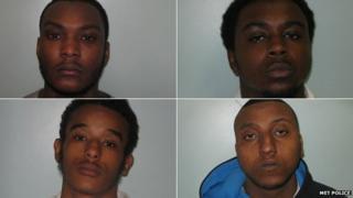 (clockwise from top left) Devonte Campbell, Casey Jones, Alex Bernard and Omar Hassan