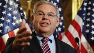 Sen. Robert Menendez speaks about immigration reform at a news conference on 10 December, 2014