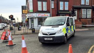 Police at scene of Beeston rape