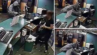 Robbery in betting shop