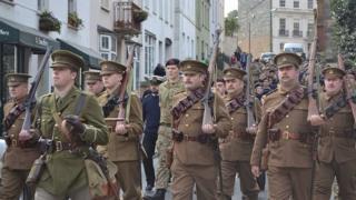 WW1 volunteers' departure recreated