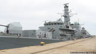 HMS Portland in Portland