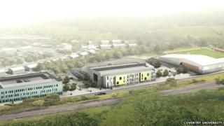 Artist's impression of Coventry University's Scarborough Campus