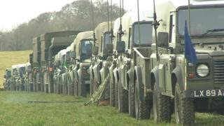 Exercise 'Tractable' on Salisbury Plain, Wiltshire