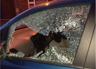 window smashed in High Wycombe