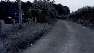 Carrickaness Road in Benburb, County Tyrone, on 15 June 1974