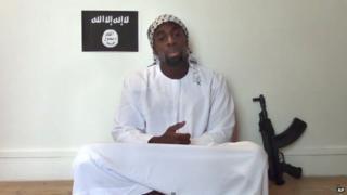 Paris gunman Amedy Coulibaly in a propaganda video
