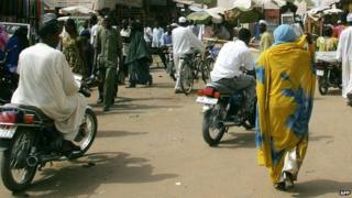 Street in N'Djamena, 2006 file picture