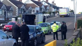 The scene of the alert at Frankhill Drive