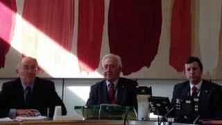 Plaid Cymru's Eurfyl ap Gwilym, Lord Wigley and Jonathan Edwards