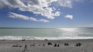 Beach Nice, France