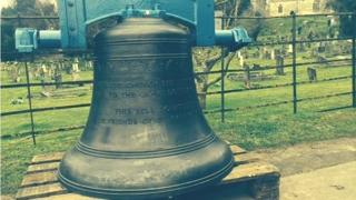 New bells at church in Churchdown, Gloucestershire