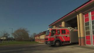 fire engine responding to call