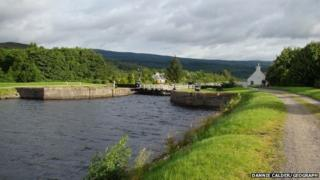 Cullochy Lock on Caledonian Canal