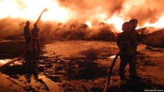 Fairglen interchange fire