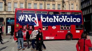 NoVoteNoVoice bus