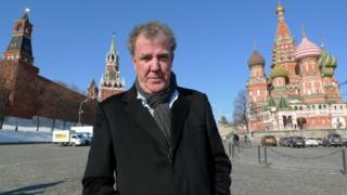 Jeremy Clarkson in Red Square, Moscow