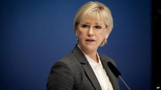 Sweden's Foreign Minister Margot Wallstrom - 30 October 2014
