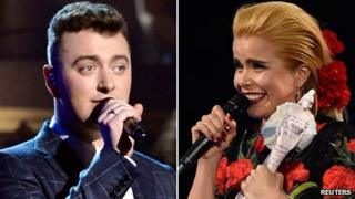 Sam Smith and Paloma Faith