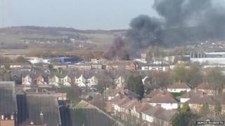 Tamworth factory fire