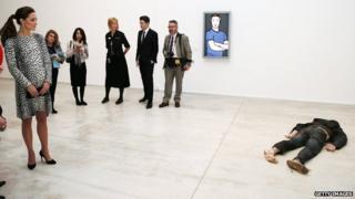 The Duchess views 'Self Portrait as a Drowned Man'