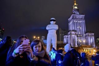 Stig statue in Warsaw