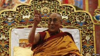 The Dalai Lama lives in exile in India