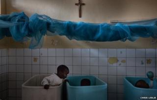 Children in cots at Noel Orphanage in Rwanda