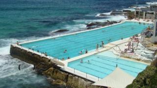 The Bondi Icebergs open air swimming pool on Bondi Beach, Australia