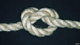 A knotted rope