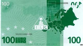 Toy 100 euro note