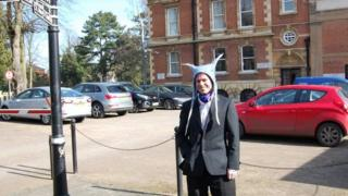 Lauri Love outside Bury St Edmunds Magistrates
