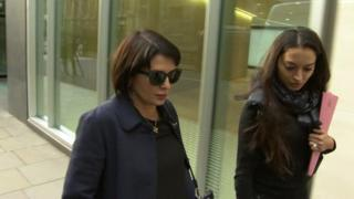 Sadie Frost leaving High Court hearing