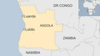 BBC map showing Angola