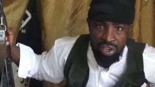 A screengrab taken showing Boko Haram leader Abubakar Shekau