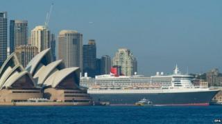 Cruise ship in Sydney