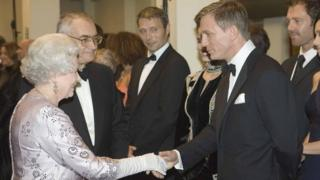 The Queen and Daniel Craig