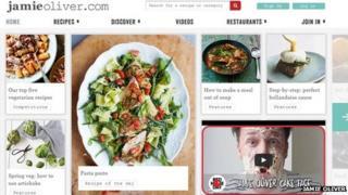 Screengrab of Jamie Oliver website