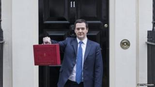 Chancellor George Osborne outside 11 Downing Street prior to the 2014 Budget