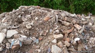 Waste dumped at Brookdale Road in Rhyl