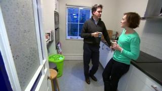 Ed Miliband and his wife, Justine, in the smaller kitchen