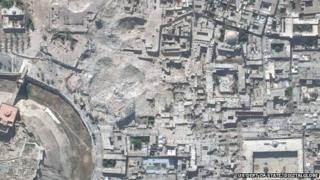 Aleppo's destroyed citadel
