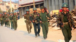 Myanmar military in Kokang
