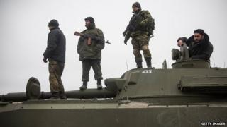 Pro-Russian rebels in Ukraine