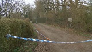 Murder scene in Ifield