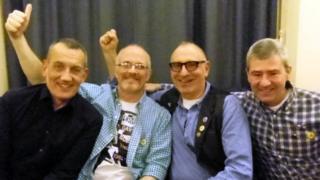 Dave Lewis, Ray Goodspeed, Jonathan Blake and Brett Haran