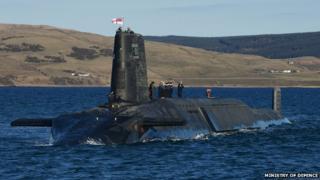 A Vanguard-class submarine