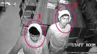 CCTV footage of two men in the Convent of Jesus and Mary in Ranaghat 15 March 2015